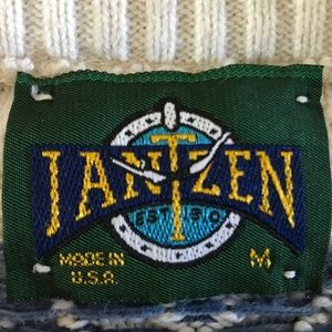 Jantzen Sweaters - Vintage Early 90's Jantzen Fisherman's Sweater M